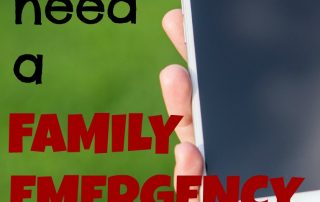Why you need a family emergency communication plan. This is something you need to make sure you have!