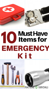 10 Must have items for your emergency kit. Some good ideas I wouldn't have thought of in here.